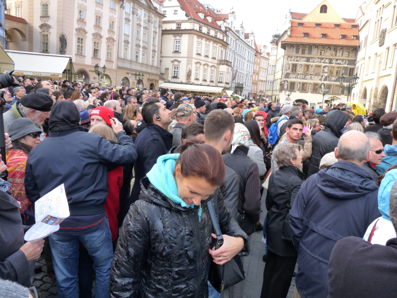 Prague Old Town Crowd