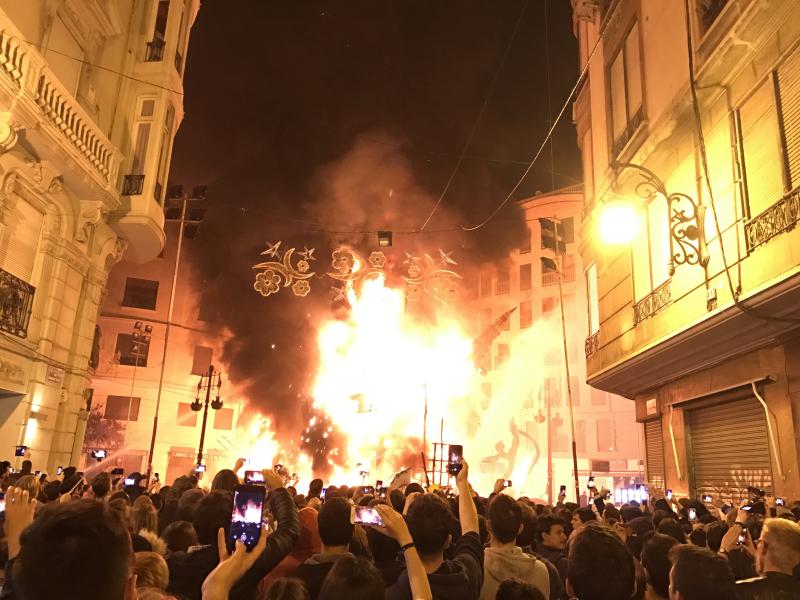 Valencia Falla on Fire
